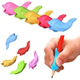 Leyaron 30 Pcs Silicone Pencil Grips Ergonomic Writing Claw Aid, Right Handed Pen Training Grip Holder for Kids, Students and Adults, Assorted Colors