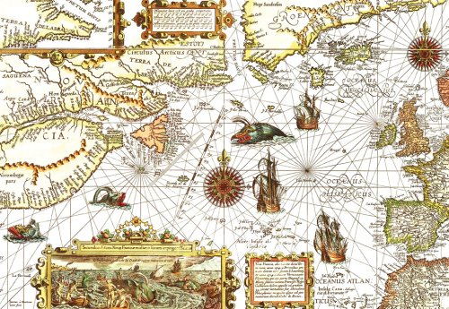 Artifact Puzzles - 1592 Map Wooden Jigsaw Puzzle