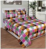 Soni Traders 144 TC Cotton Double Bedsheet - Geometric, Multi