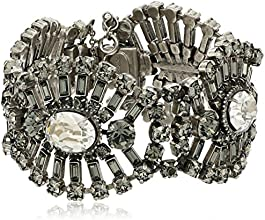 "Sorrelli ""Crystal Rock"" Central Oval and Crystal Baguette Antique-Tone Bracelet"