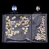 100pcs Crystal AB Shape Pure Leaf Flatback Rhinestone Nail Decoration Gem Stone 2 Sizes Mix Manicure Accessories Supplies (50pcs each size)