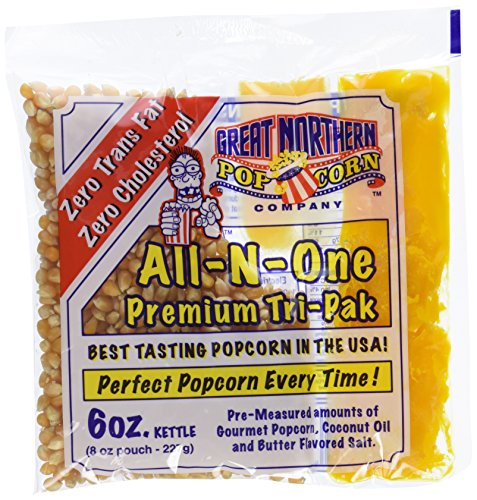 Great Northern Popcorn 1 Case (12) of 6 Ounce Popcorn Portion Packs Kit Cinema (6oz Popcorn Packs compare prices)