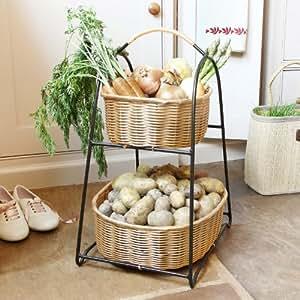 Deux niveaux de rangement pour l gumes de la cuisine avec for Rangement legumes cuisine