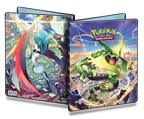 Ultra-Pro Pokemon Card Binder featuring Mega Rayquaza and Gallade from XY Roaring Skies (9-Pocket Album/Portfolio Holds 90-180 Cards) featuring featuring fe017ewgkq27