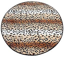 Amariver Coral Velvet Door mat Kitchen Rug Bedroom Carpet Super Soft Hallway Mat Anti-slip Bath Mats (Leopard 35.5\