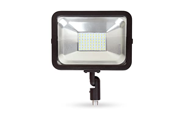 LLT LED Compact Floodlight with Arm SMD Outdoor Landscape Security Waterproof 30W 5000K (Daylight) (Color: Daylight (5000k))