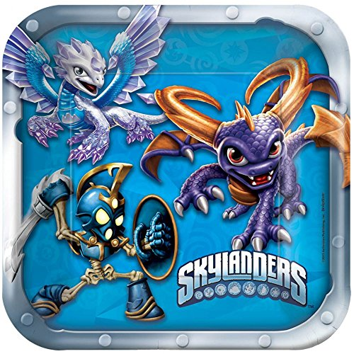 "American Greetings Skylanders 7"" Square Plate (8 Count) - 1"