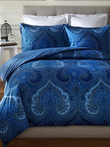 Echo Jakarta Mini Duvet Cover Set, Full/Queen, Blue front-31000