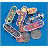 "Fun Express - MINI 60'S SKATEBOARDS - Plastic, 2"", 3 Assorted Dozen"