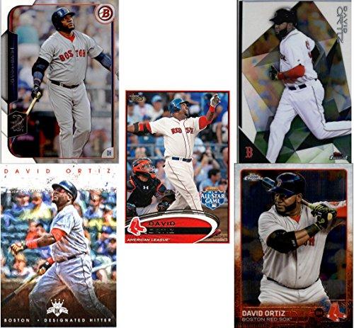 David-Ortiz-Big-Papi-5-Baseball-Cards-Boston-Red-Sox-Assorted-MLB-Major-League-Baseball-Trading-Cards