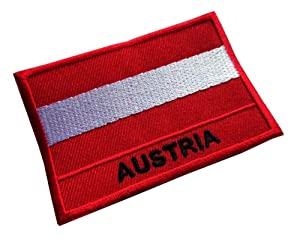Austrian National Flag Sew on Patch