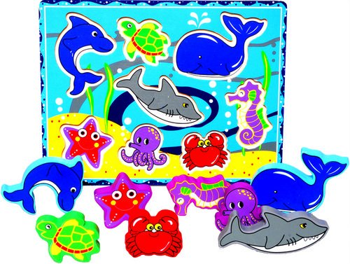Picture of Beauty Land Enterprises Co. Chubby Ocean Puzzle (B003MJ5VFA) (Pegged Puzzles)