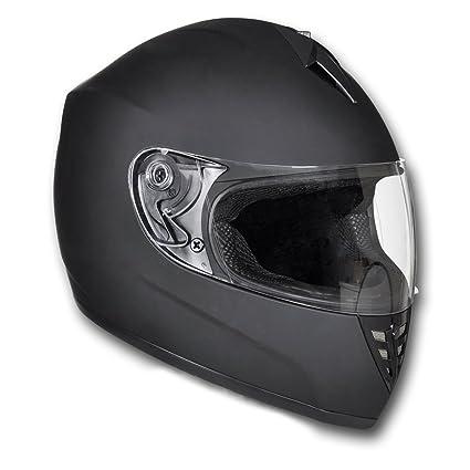 Casque intégral moto noir Taille S