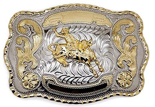 Cowboy Big Belt Buckle Bull Riding Western Bull Rider Rodeo New Texas