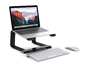 Griffin Elevator Desktop Stand for Laptops, Black - Elegant desktop stand for laptops (Color: Black)