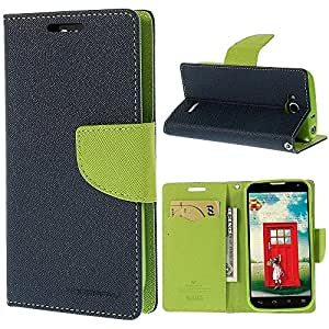 TECH-SHIELD Mercury PU Leather Fancy Diary Wallet Flip Cover for SONY XPERIA -C5- BLUE & GREEN COLOR