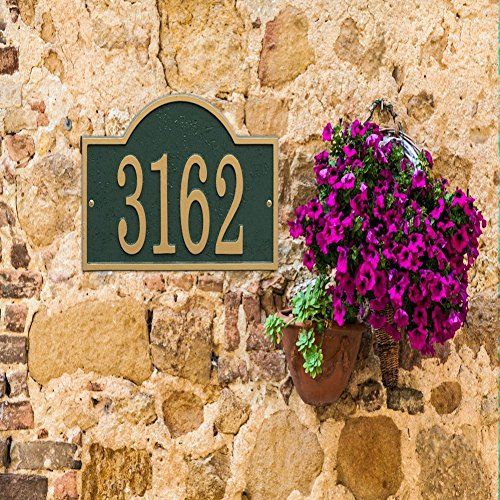 Decorative Signs For Your Home: Personalized Cast Metal Arch House Number Custom Address