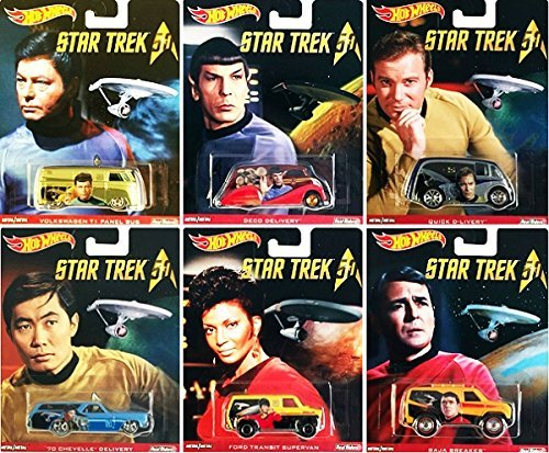 Star Trek 50th Anniversary Pop Culture cars Hot Wheels Space Car Set Deco Delivery
