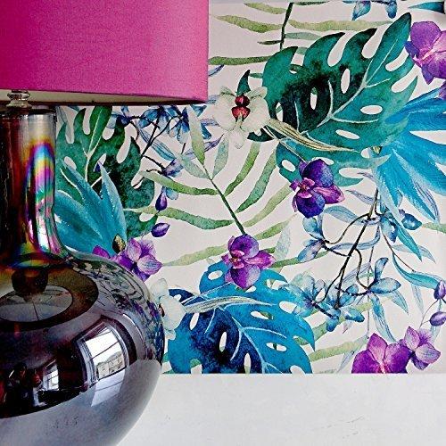 orchidea-giungla-foglia-floreale-vivente-muro-effetto-carta-da-parati-floreale-in-verde-blu-violetto