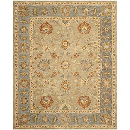 Safavieh Anatolia Collection AN561A Handmade Taupe and Grey Wool Area Rug, 9 feet by 12 feet (9' x 12')