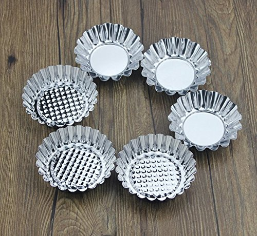 Astra shop 30-piece Stainless Steel Egg Tart Mold Non-stick Bakeware Mini Pie Pan for Egg Tart, Quiches, Cakes - Large & Medium