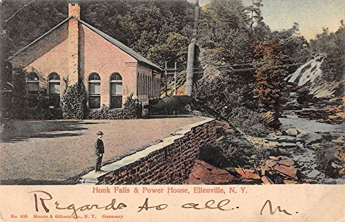 Ellenville New York Honk Falls and Power House Antique Postcard J41281