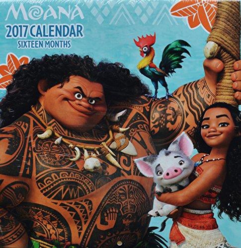 2017 Disney's Moana 16-Month Wall Calendar
