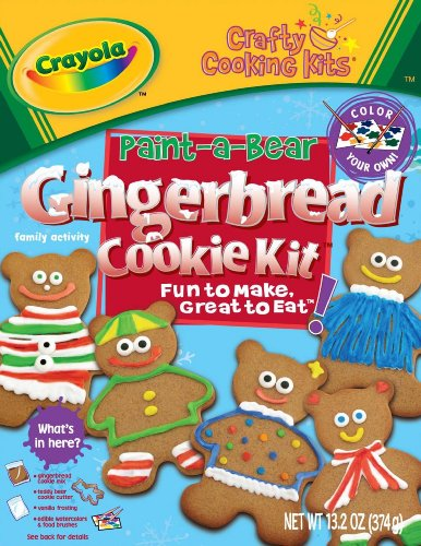 Brand Castle Holiday Crafty Cooking Crayola Teddy Bear Gingerbread Cookie Kit, 13.2 Ounce Boxes (Pack of 4)