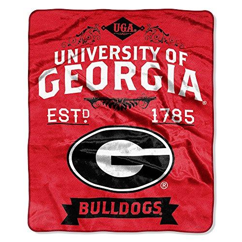 NCAA Georgia Bulldogs College Label Raschel Throw, 50 x 60-Inch (Bulldog Presents compare prices)