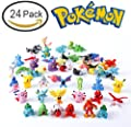 "Pokemon Action Figure 1"" ,Anime Action Figure Cupcake Toppers ,Pikachu Guarantee, ( Set of 24 PCs Random Lot . )"