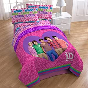 One Direction 5pc Full Comforter and Sheet Set Bedding Collection
