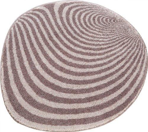Grund 351242214 Badteppich rund Pebble, 70 cm, rauchgrau