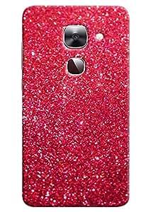Omnam Pink Sparkle Fully Printed Designer Back Cover Case for LeTv Le2