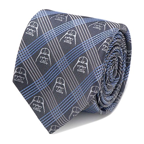 Star Wars Darth Vader Blue Plaid Tie