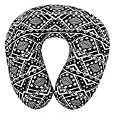Magasin Monochrome U -Shaped Memory Foam Travel Neck Pillow