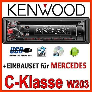 Mercedes-benz w203 classe c kenwood kDC - 164 uR autoradio cD/mP3/uSB avec kit de montage