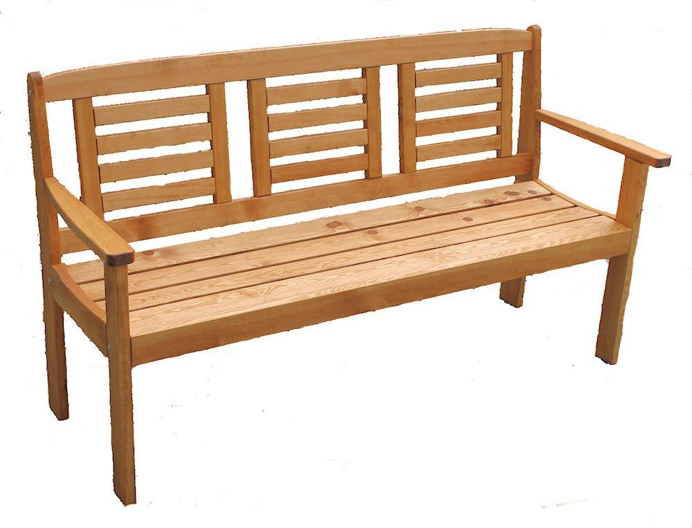 """Massivholz Gartenbank """"Lonus"""" , Kiefer , Fb. Nuss , B 186 cm , Holzstärke : 28 mm kaufen"""