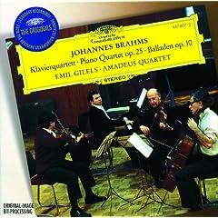 Brahms: Quartet No.1 In G Minor, Op.25; 4 Ballades, Op. 10