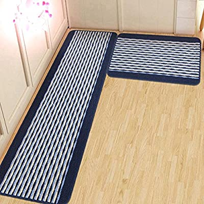 Ustide Kitchen Rug Set,kitchen Floor Rug Washable Floor Runner Stripe Pattern Floor Runner Rugs,non-slip Washable Bath Mats,water Absorption Toilet Rugs