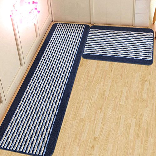 Blue Kitchen Rug: Ustide Kitchen Rug Set,kitchen Floor Rug Washable Floor