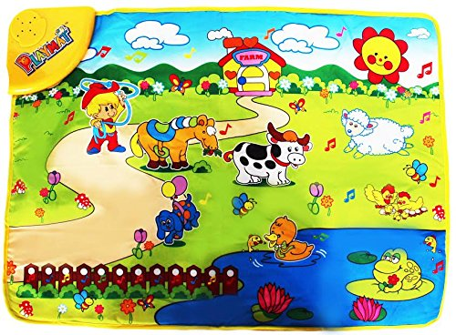 Dazzling Toys Kids Musical and Animal Effects Farm Life Playmat. Kids Love This! - 1