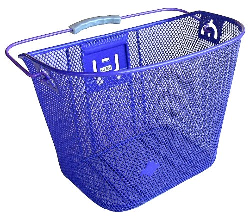 Bicycle Basket with Bracket Purple, Front Quick Release Bask