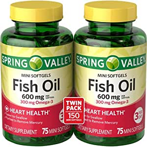 Spring Valley All Natural Fish Oil 600 Mg 300