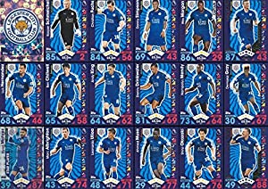 Topps Match Attax 2016/2017 Leicester City Team Base Set Plus Badge Logo , Star Player & Away Kit Cards 16/17