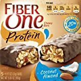 Fiber One Protein Chewy Bars, Coconut Almond, 5 count of 1.17 Oz