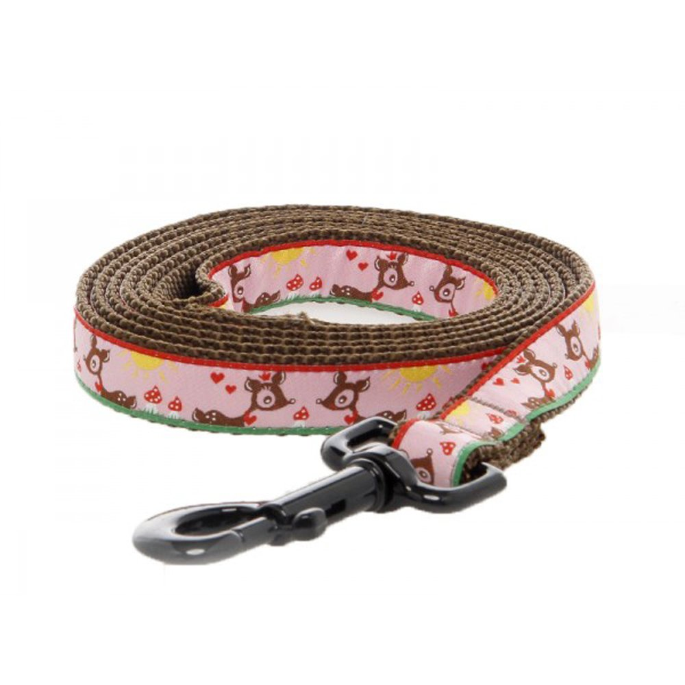 Max & Zoey Bambie Dog Leash, 5-Feet, Pink цены онлайн