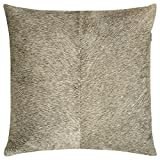 SWHF Leather Cushion Cover: Grey