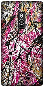 The Racoon Lean printed designer hard back mobile phone case cover for OnePlus 2. (color spla)