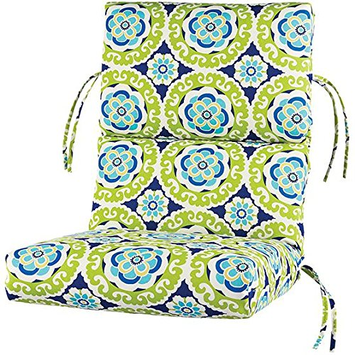 bullnose high back outdoor chair cushion 4hx20wx44d halina wasabi polyester by home decorators collection