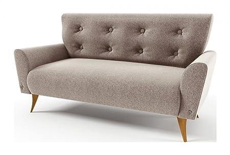 Mobilier Privé - Canapé 2 Places En Tissu De Qualité Lacini, Beige Pale
